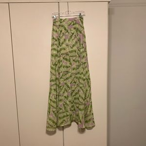 Show Me Your Mumu Palm Print Maxi Skirt